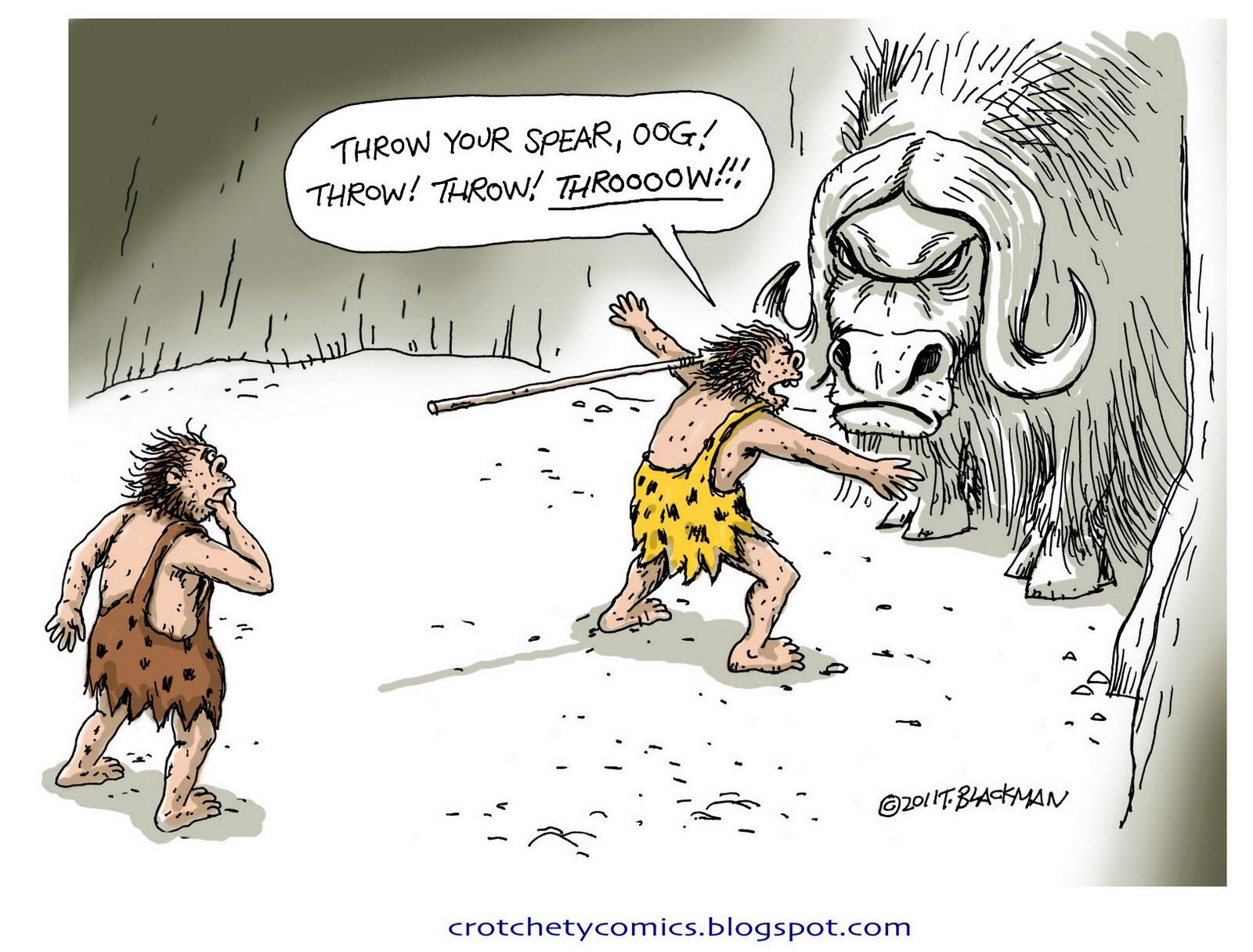 holbewoners en vlees