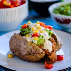 Gepofte Aardappel Mexican Style met 'Sour Cream' & Salsa 3