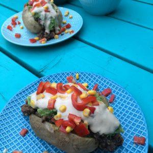 Gepofte Aardappel met sour cream