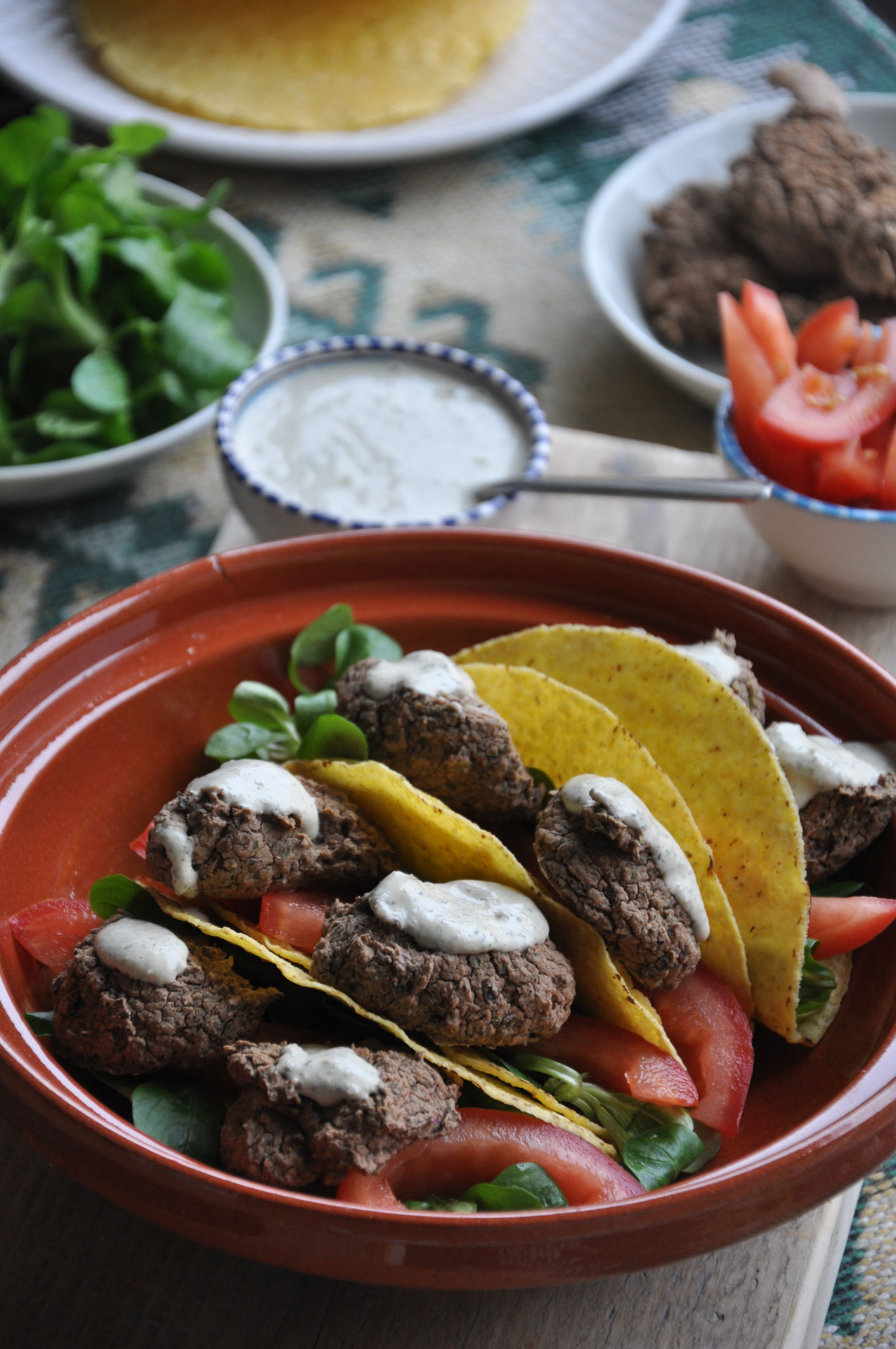 Zwarte Bonen Falafel Taco's met Tahin-Dille Dip 3