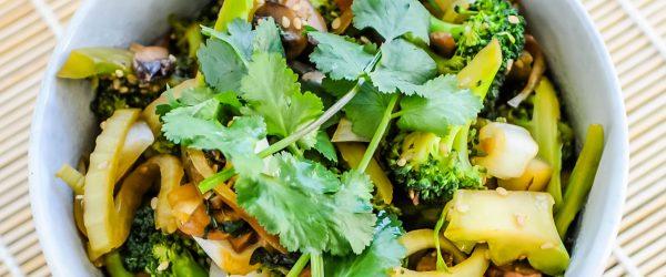 Japanse Stir-fry met Gember, Limoen & Knapperige Groentes